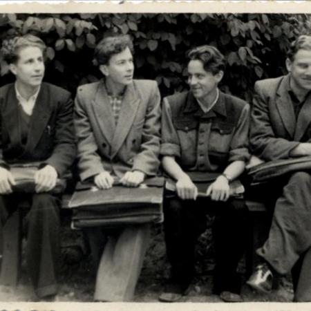 Soome-ugri poisid Rein Kull, Leonhard Vaide, Huno Rätsep, Tõnu Karma (1949)